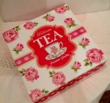 Tea Box ( red rose )
