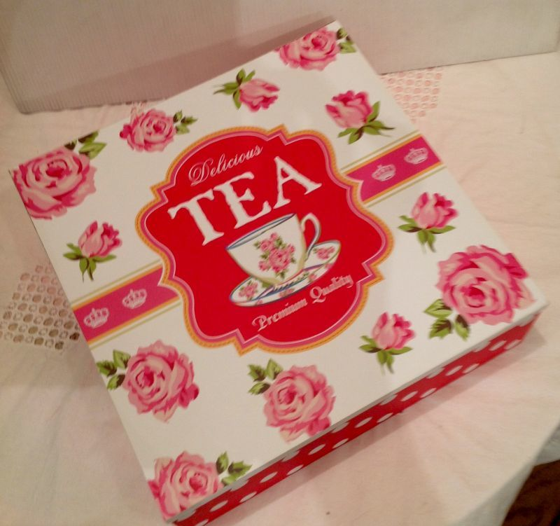 画像1: Tea Box ( red rose L)